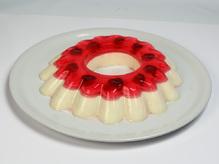 Десерт панна-котта ванильная с фруктовым желе, весовое