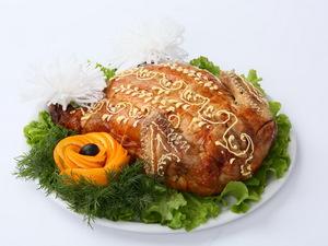 Курица фаршированная (блины)