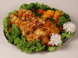 Курица фаршированная (грибы, перец болгарский), весовое