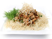 Салат из морепродуктов с курицей