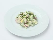 Салат из редиса с огурцом яйцом со сметаной, весовое