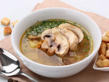 Суп грибной с мясом, 300/20 г