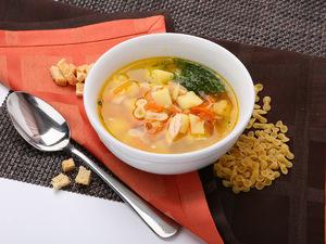 Суп с курицей и рожками, 300/30 г